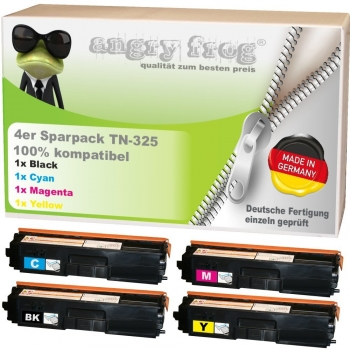 4x Toner Made in Germany ersetzen BROTHER TN325 BK/C/M/Y